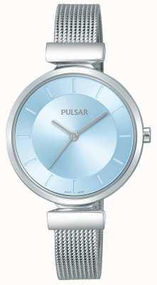 Pulsar Quadrante blu chiaro con cinturino in acciaio inossidabile da donna PH8411X1