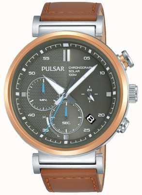Pulsar Quadrante cronografo in cassa placcata oro rosa da uomo PZ5070X1