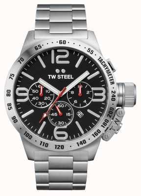 TW Steel Mens mensa cronografo da 50 mm in acciaio inossidabile CB8