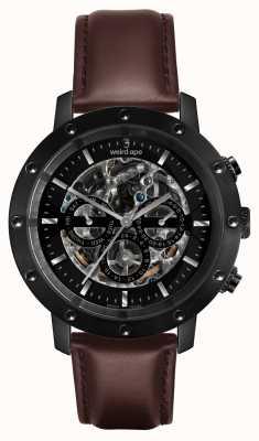 Weird Ape Icarus 3 compone tutto il cinturino in pelle nero / marrone WA02-005702