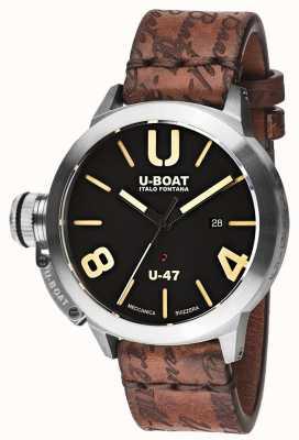 U-Boat Cinturino in caucciù nero automatico Classico 47 as1 8105
