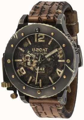 U-Boat Cinturino in pelle marrone automatico unicum vintage U-42 8188