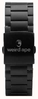 Weird Ape Bracciale con maglia nera da 20 mm ST01-000002
