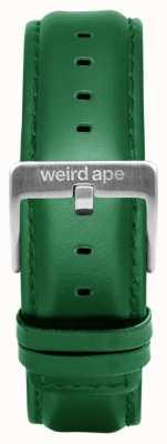 Weird Ape Cinturino in pelle smeraldo 20mm solo fibbia argento ST01-000110