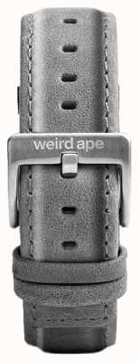 Weird Ape Fibbia argentata color argento con cinturino in pelle scamosciata color grigio ardesia ST01-000016