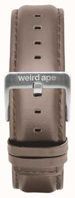 Weird Ape Fibbia in argento con cinturino da 20 mm in pelle di nocciola ST01-000101
