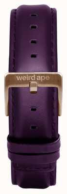 Weird Ape Fibbia di cioccolato con cinturino in pelle di melanzana 16mm ST01-000068