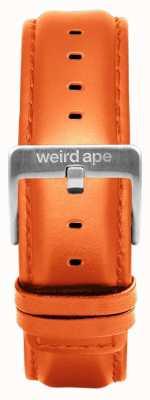 Weird Ape Fibbia in argento con cinturino in pelle arancione da 20mm ST01-000111