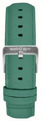 Weird Ape Fibbia in argento con cinturino in camoscio color verde giada 16mm ST01-000060
