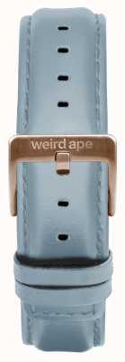 Weird Ape Fibbia in oro rosa con cinturino in pelle color blu 16mm ST01-000029