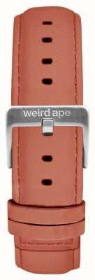 Weird Ape Fibbia in argento con cinturino in pelle scamosciata rosa 16mm ST01-000052