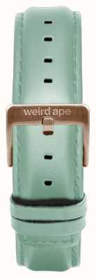 Weird Ape Cinturino in pelle verde menta 16mm solo fibbia in oro rosa ST01-000042