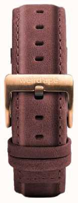 Weird Ape Cinturino in pelle rosa pastello 16mm solo fibbia in oro rosa ST01-000033