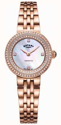 Rotary Orologio da donna con cinturino in oro rosa kensington LB05374/41
