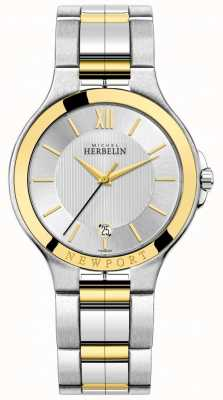 Michel Herbelin Mens newport royale bicolore argento e bracciale in oro 12298/BT11