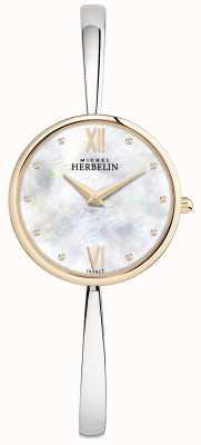Michel Herbelin Bracciale da donna in oro rosa con quadrante argentato 17418/BTR19