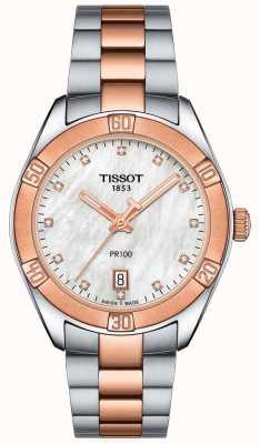 Tissot Womens pr100 sport chic orologio da polso bicolore T1019102211600