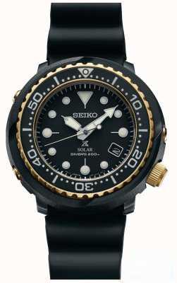Seiko Orologio da uomo ton ton nero e oro prospex subacquei SNE498P1
