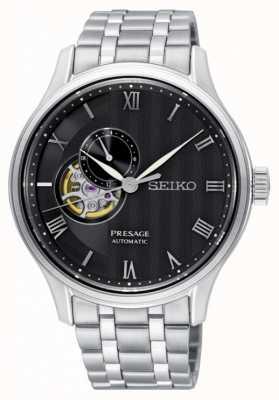 Seiko Presage mens automatico bracciale quadrante nero in acciaio inossidabile SSA377J1
