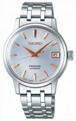 Seiko Presage womens orologio automatico in oro rosa e argento SRP855J1