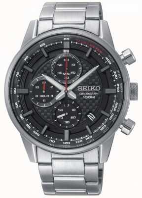 Seiko Bracciale cronografo sportivo da uomo in acciaio sportivo SSB313P1