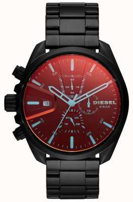 Diesel Mens ms9 orologio quadrante cronografo in vetro iridescente DZ4489
