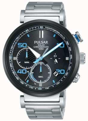 Pulsar Ex display - orologio cronografo solare da uomo in acciaio inossidabile PZ5065X1-EX-DISPLAY