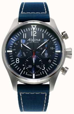 Alpina Cronografo da pilota startimer da uomo al quarzo blu AL-371NN4S6