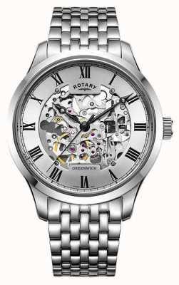 Rotary Orologio da uomo in acciaio inossidabile con cinturino in acciaio inossidabile GB02940/06