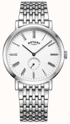 Rotary Orologio da polso da uomo in acciaio inossidabile con movimento a vento GB05310/01