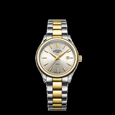 Rotary Orologio da donna con cinturino in argento bicolore oro oxford LB05093/03