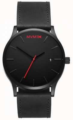MVMT Pelle nera classica | cinturino nero | quadrante nero D-L213.5L.551