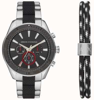 Armani Exchange Set regalo bracciale da uomo cronografo sportivo enzo sportivo AX7106