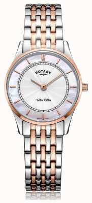 Rotary Quadrante madreperlato da donna a due toni ultra slim LB08302/02