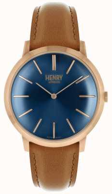 Henry London Cinturino in pelle marrone con cinturino in tonalità marrone HL40-S-0244