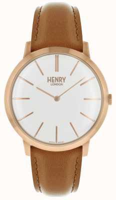 Henry London Borsa con cinturino in tonalità rosa con cinturino in pelle marrone chiaro HL40-S-0240