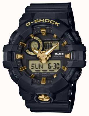 Casio Orologio analogico digitale in gomma oro G-shock GA-710B-1A9ER