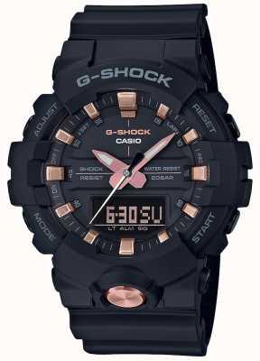 Casio G-shock analogico digitale multi-funzione nero opaco oro rosa GA-810B-1A4ER