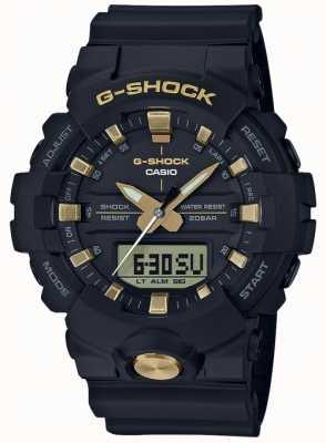 Casio G-shock analogico digitale multi-funzione nero opaco oro GA-810B-1A9ER