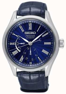 Seiko Presente in edizione limitata shippo smalto mens automatico blu SPB073J1