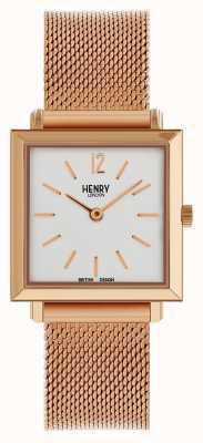 Henry London Heritage orologio da donna petite con quadrante in oro rosa HL26-QM-0264