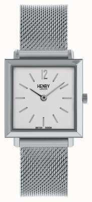 Henry London Heritage maglia quadrata argento da donna HL26-QM-0265