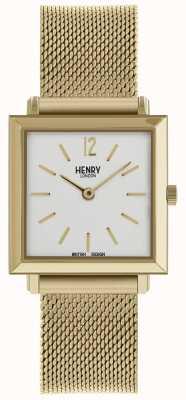 Henry London Heritage maglia da donna orologio petite quadrato oro HL26-QM-0266