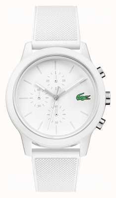 Lacoste 12.12 cinturino in silicone cronografo bianco 2010974