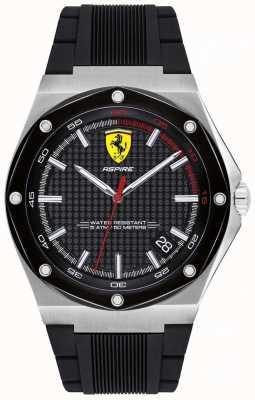 Scuderia Ferrari Orologio da uomo con cinturino in caucciù nero 0830529