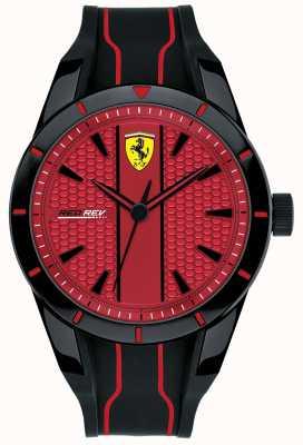 Scuderia Ferrari Cinturino in caucciù rosso con quadrante rosso redemp rosso 0830540
