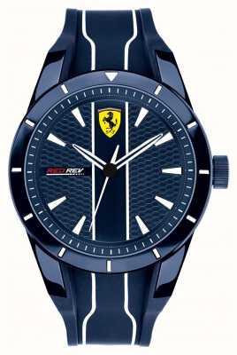 Scuderia Ferrari Cinturino in caucciù blu con quadrante blu reddr 0830541