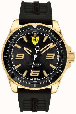 Scuderia Ferrari Cinturino in caucciù con cassa placcata in oro da uomo xx kers 0830485