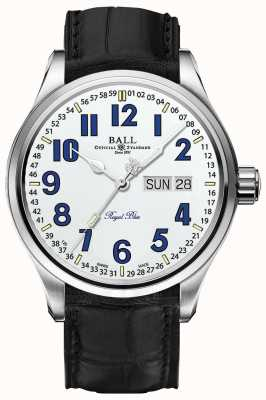 Ball Watch Company Display per data e giorno del quadrante bianco blu di Trainmaster NM1058D-LL9J-WH