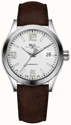 Ball Watch Company Cinturino in pelle marrone argento pioniere dell'ingegnere ii NM2026C-L4CAJ-SL